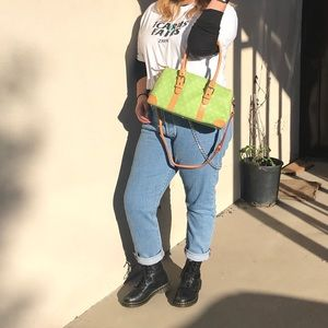 Dooney & Bourke lime green leather purse
